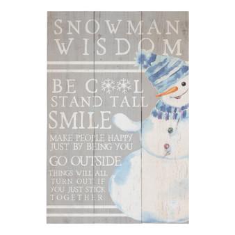 Snowman Wisdom- Rustic Pallet
