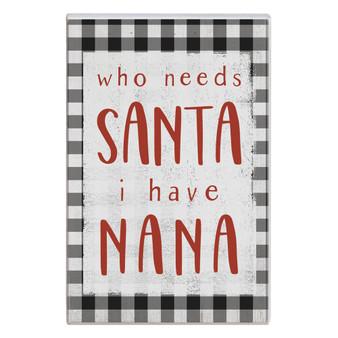 Who Needs Santa - Small Talk Rectangle
