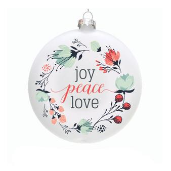 Joy Peace Love - Ornaments