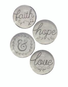 Faith, Hope & Love - Deco Magnets