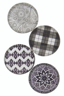 Black & White Patterns - Deco Magnets