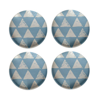 Blue Triangles - Deco Magnets