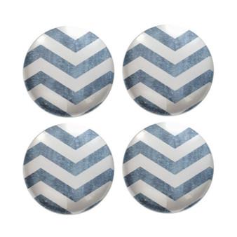 Blue Chevron - Deco Magnets