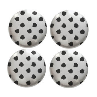 Black Dots - Deco Magnets