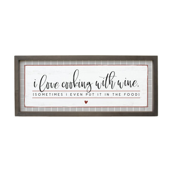 Cooking With Wine - Farmhouse Frame