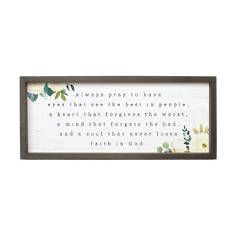 Always Pray - Farmhouse Frame
