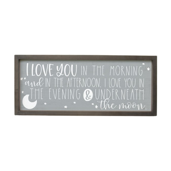 Love You In The Morning - Farmhouse Frame