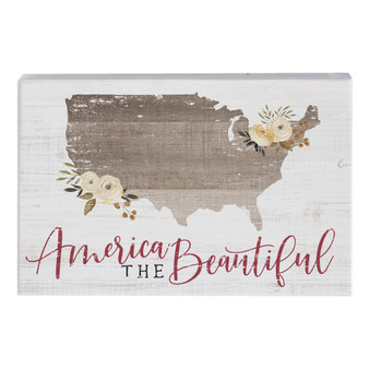 America The Beautiful - Small Talk Rectangle