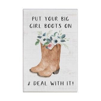 Big Girl Boots - Small Talk Rectangle