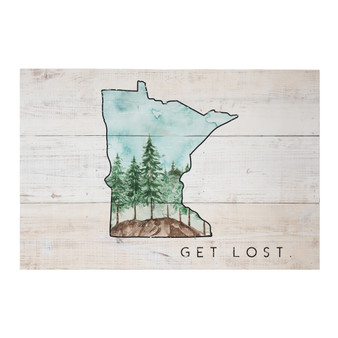 Get Lost Woods PER STATE - Rustic Pallets