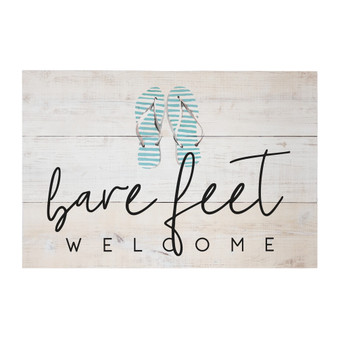 Bare Feet Welcome - Rustic Pallets