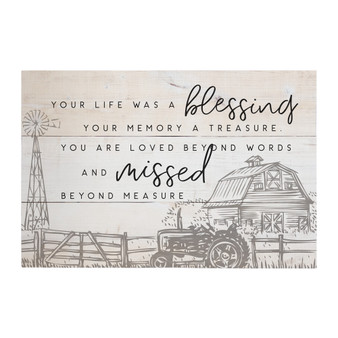 Life A Blessing - Rustic Pallets