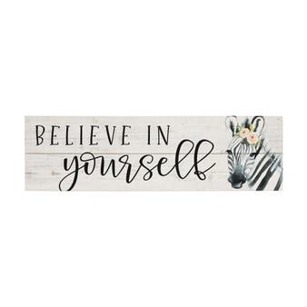 Believe In Yourself - Vintage Pallet Boards