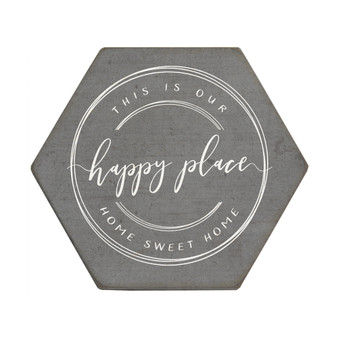Happy Place - Honeycomb Coasters