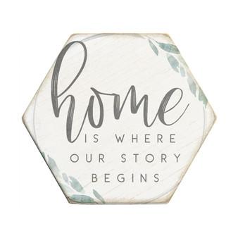 Home Story Begins - Honeycomb Coasters