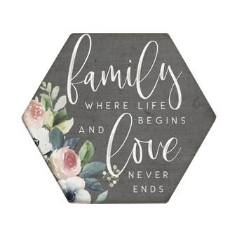 Family Life Begins - Honeycomb Coasters