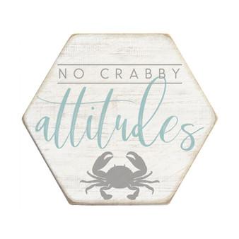 Crabby Attitudes - Honeycomb Coasters