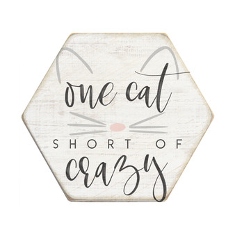 One Cat Short - Honeycomb Coasters