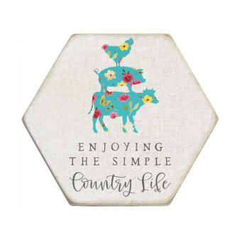 Country Life - Honeycomb Coasters
