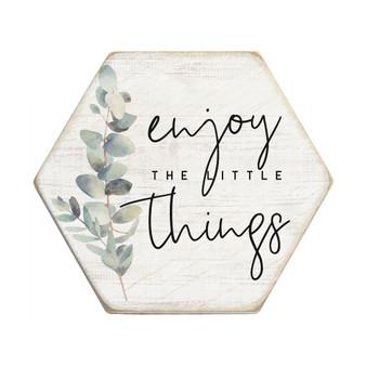 Enjoy Little Things - Honeycomb Coasters