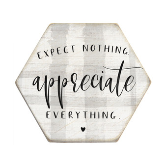 Appreciate Everything - Honeycomb Coasters