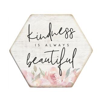 Kindness Beautiful - Honeycomb Coasters