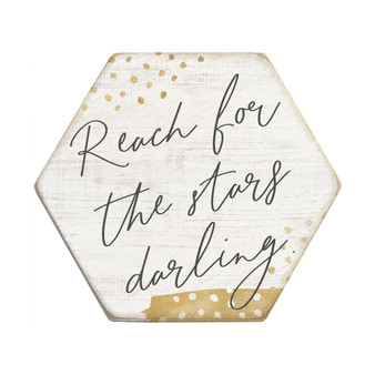 Reach For The Stars - Honeycomb Coasters