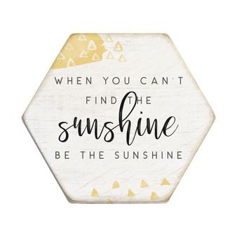 Be The Sunshine - Honeycomb Coasters