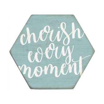 Cherish Every Moment - Honeycomb Coasters