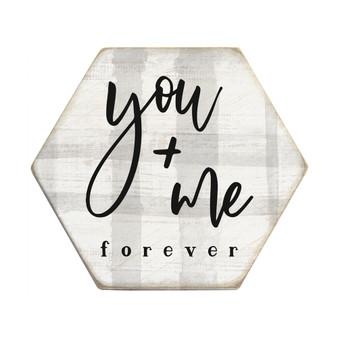 You + Me - Honeycomb Coasters