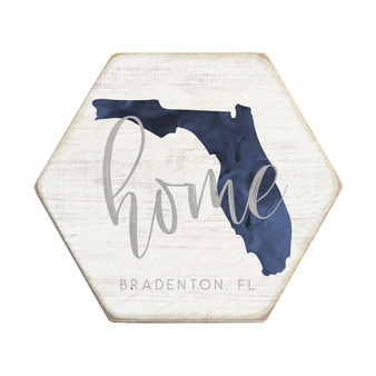 Navy Home State PER STATE - Honeycomb Coasters