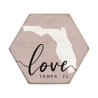 Love State PER STATE - Honeycomb Coasters