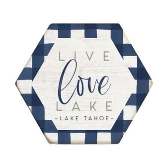 Live Love Lake PER - Honeycomb Coasters