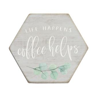 Life Happens PER - Honeycomb Coasters
