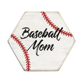 Baseball Mom PER - Honeycomb Coasters