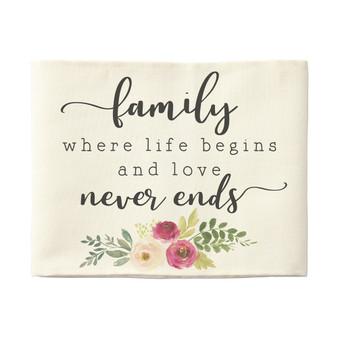 Family Life Begins - Pillow Hugs