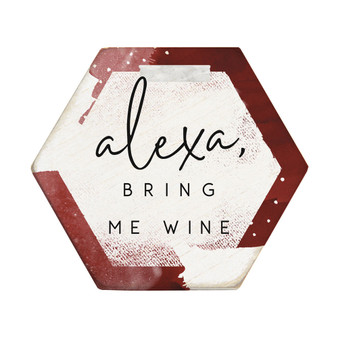 Alexa Bring Wine - Honeycomb Coasters