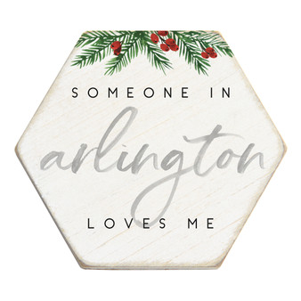 Someone Loves Me Christmas PER - Honeycomb Coasters