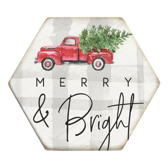 Merry and Bright - Honeycomb Coasters