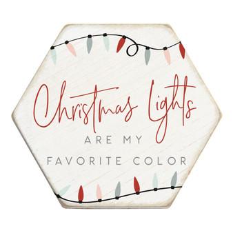 Christmas Lights - Honeycomb Coasters
