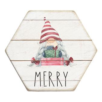 Merry Gnome - Honeycomb Coasters