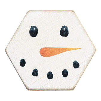 Snowman - Honeycomb Coasters