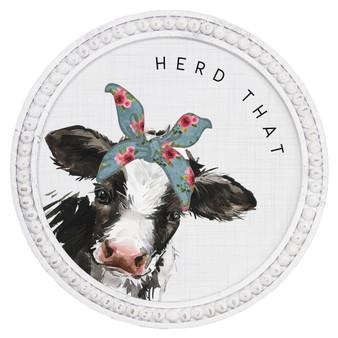 Herd That - Beaded Round Wall Art