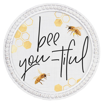 Bee You-tiful - Beaded Round Wall Art