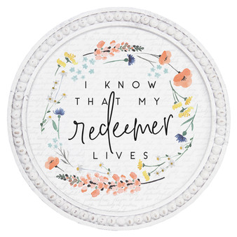 My Redeemer Lives - Beaded Round Wall Art
