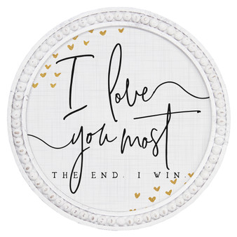 Love You Most - Beaded Round Wall Art