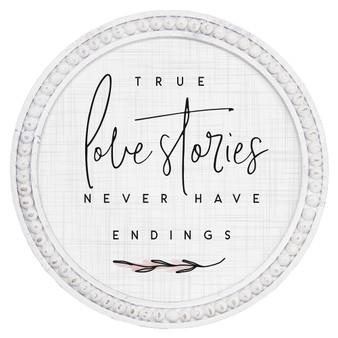 True Love Stories - Beaded Round Wall Art