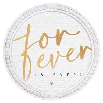 Forever & Ever - Beaded Round Wall Art