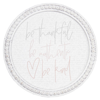 Be Thankful - Beaded Round Wall Art
