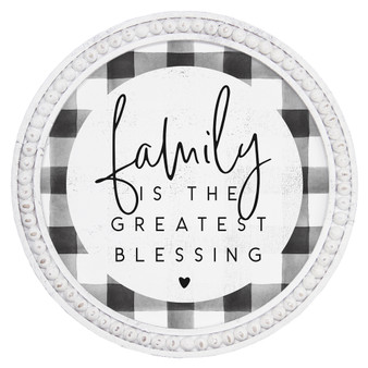 Family Blessing - Beaded Round Wall Art